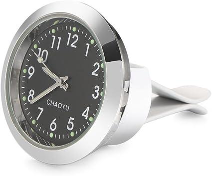 OurLeeme Car Air Vent Horloge Quartz Tableau de Bord Clip Horloge de Voiture Lumineux analogique sur Memory Stick Automatique de lhorloge