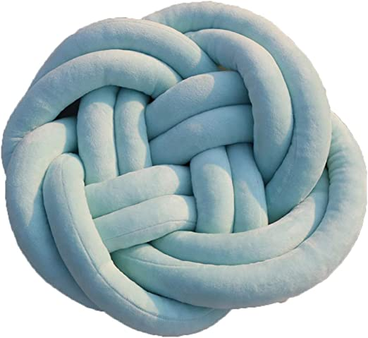 as described Handmade Creative Knot Pillow Knotted Ball Car Home Decor Throw Cushion Kid Baby Blue