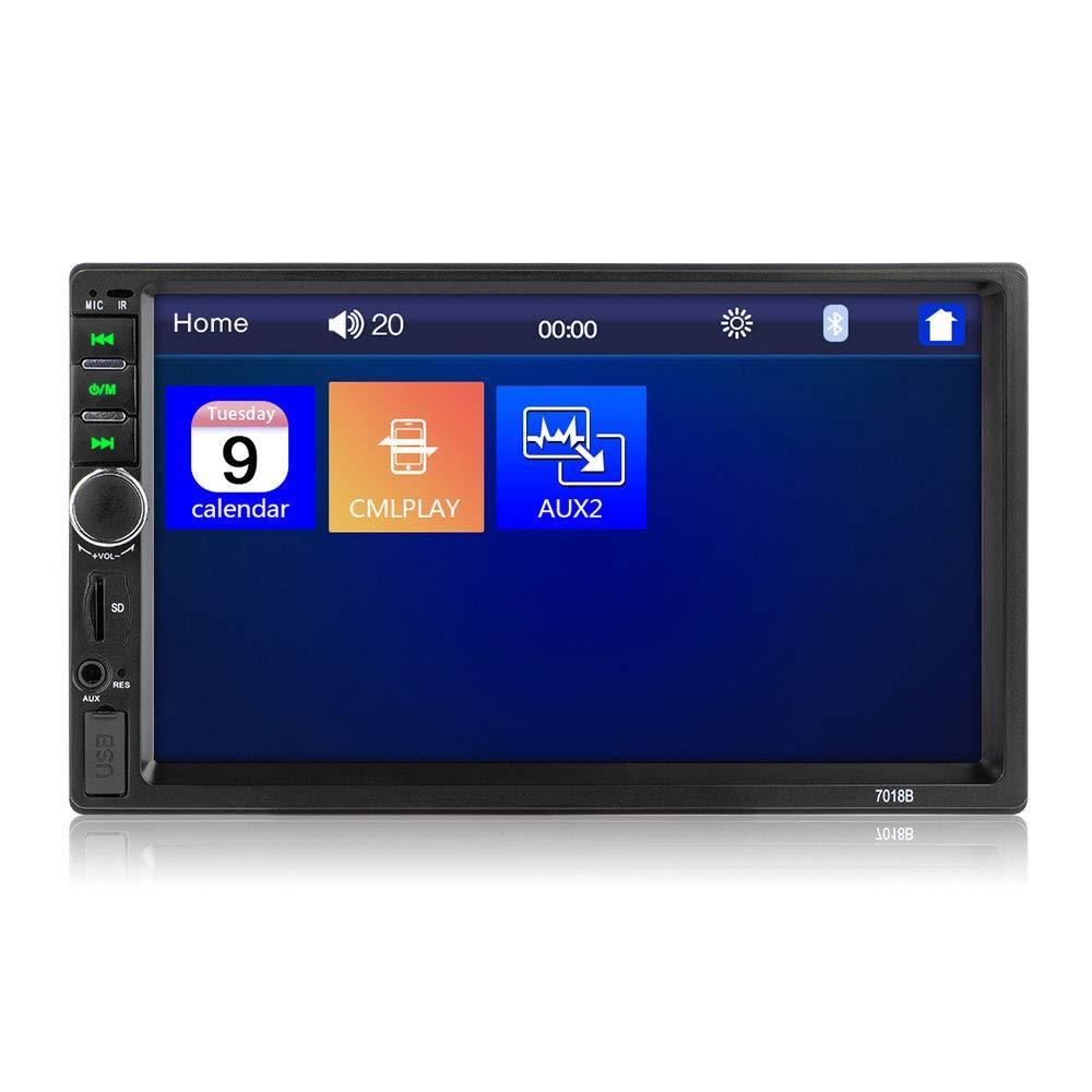 autoradio Bluetooth Lecteur MP5 g/én/érique pour Voiture avec /écran de Vue arri/ère//FM//USB//AUX//TF//Tactile