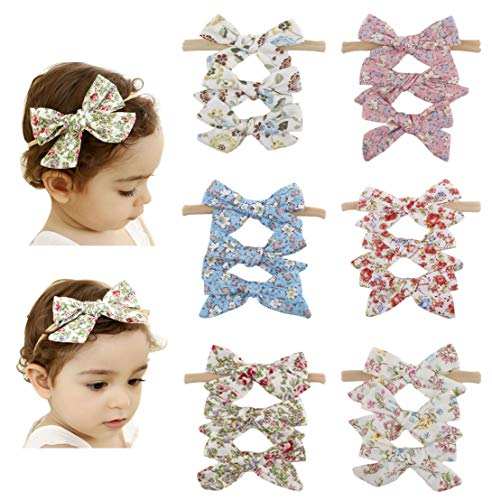 (Baby Girls Big Bow Hair Clip Set Alligator Clips Printed Bows Headband for Little Girls Toddler Children )