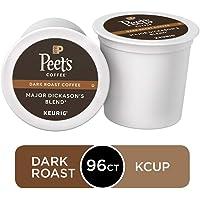 Peet's Coffee Major Dickason's Blend, Dark Roast, 96 Count Single Serve K-Cup Coffee Pods for Keurig Coffee Maker