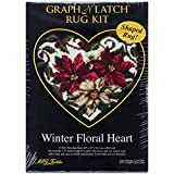 M.C.G. Textiles Latch Hook Kit, 30 by 27-Inch, Winter Floral Heart