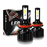 TURBO SII H11/H9/H8 LED Headlight Bulbs Conversion Kit with Fan, DOT Approved C6