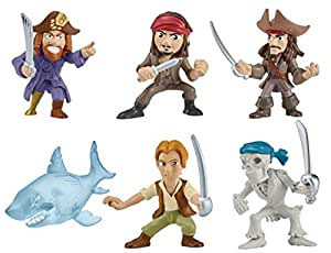 Lot of 6 Pirates of the Caribbean Salazar's Revenge Mini Battle Figure Assorted