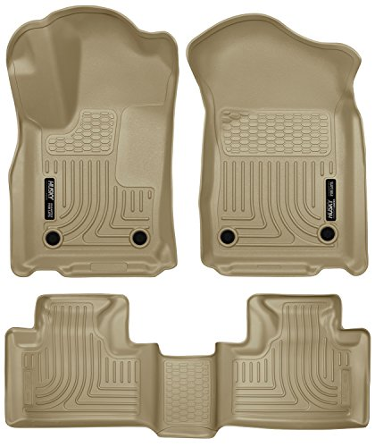 2016-2017 Jeep Grand Cherokee Weatherbeater Series Front & 2nd Seat Floor Liners (Footwell Coverage) - Tan