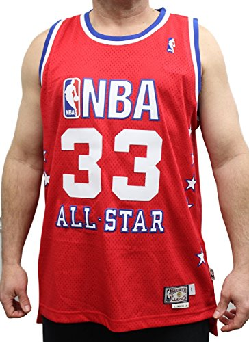 adidas Larry Bird Boston Celtics East All-Star Red Throwback Swingman Jersey Large