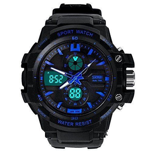 Relojes de Hombre Sport LED Digital Military Water Resistant Watch Digital Men RE0025