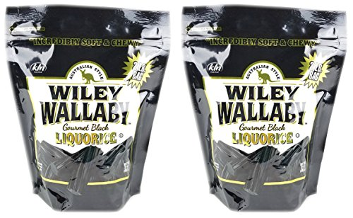 Bundle Pack - Australian Style Liquorice Multi-Pack in Two Large 2 LB Bags (Black) ()