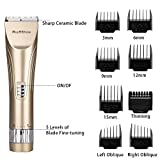 BuySShow Professional Hair Clippers For Men And Babies Quiet Barber Clippers Cordless Haircut Kit With 2 Scissors 1 Hair Comb Charging Dock Home Barber Kit