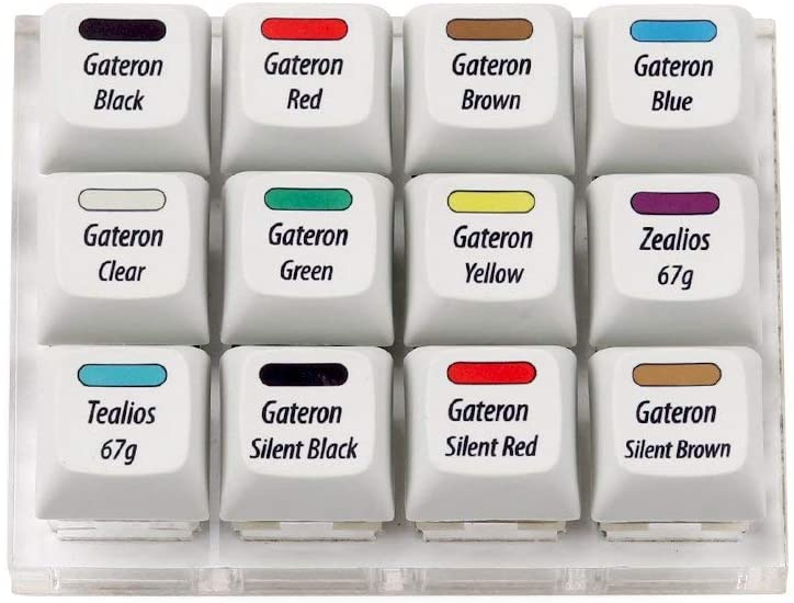 Max Keyboard Gateron & Zeal PC Switch Tester - 12 Switches