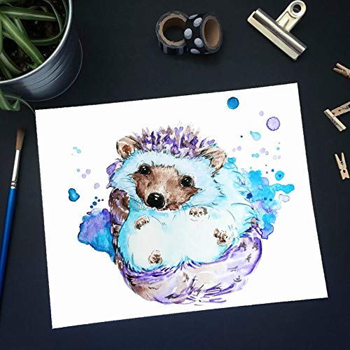 Animals Pic No 8 Otter Print Painting,Watercolor,Poster Nursery