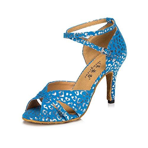 Señoras Zapatos De Baile De Salón De Baile Latino De Lamba Chatin Zapatos Cómodos 6cm azul