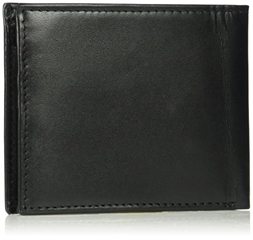 Tommy Hilfiger Men's RFID Blocking 100% Leather Cambridge Passcase Wallet, black, One Size