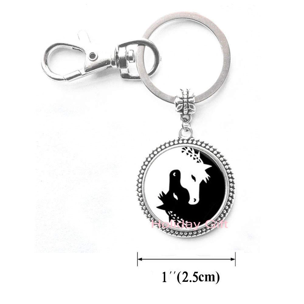 Amazon.com: Llavero con diseño de caballo Yin Yang de color ...