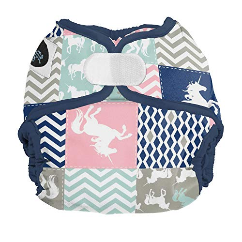 Imagine Baby Products Hook & Loop Cover, Unicorn Dream, Newborn