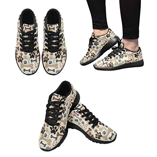 Running Shoes Paw Dog Women's Outdoors Sneakers 6 Design InterestPrint pqxg4aw5f