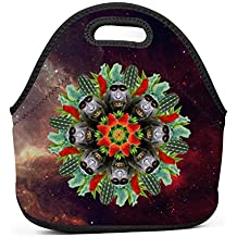 Gujigur Handbags Trippy Cactus Monkey with Strawberry Graphic Lunch Bag for Adult Women and Men - Idea for Beach,Picnics,Road Trip,Meal Prep,Everyday Lunch to Work or School