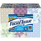 Kirkland Signature White Unscented Facial Tissue - 12-Pack