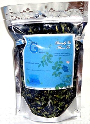 Dried Butterfly Pea flower teas 100% Organic Clitoria ternatea Herbs Herbal healthy tea drink recipes food coloring Antioxidants aging 100g ()