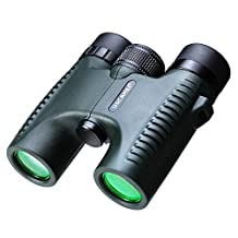 USCAMEL HD 10x26 Binoculars Military Green Long Range 5000m Professional Waterproof Folding Telescope Wide Angle Vision Hunting Compact Pocket Size, Green