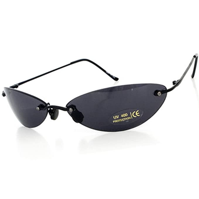 13ca73d5f2 Matrix Morpheus Sunglasses men 13.9 g Ultralight Rimless (Black ...