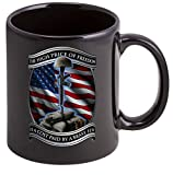 Coffee Cup with High Price Of Freedom USMC Logo - Stoneware Mug, Patriotic Gift