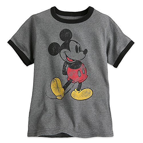 Disney Classic Mickey Mouse Ringer Tee For Boys Size S (5/6)
