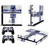 Vanknight Vinyl Decal Skin Sticker Cute R2D2 Robot Droid for PS4 Playstaion 4 Controllers Star Wars from Vanknight