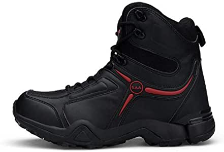 COODIO Men Outdoor Anti-Skid Boots Wear Resistant Boots for Autumn Winter