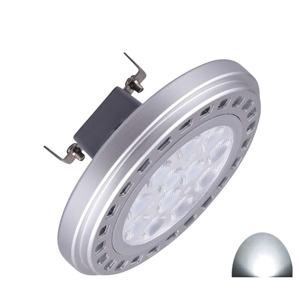 Generic LED AR111ampoule spot 15W G53Faisceau 30° Angle de visualisation lumière 6000K-6500K SMD 15leds DC12V spot Réflecteur lumières 1200LM QLEE