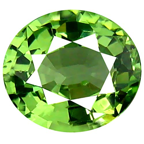 0.86 ct Oval Cut (6 x 6 mm) Un-Heated Tanzanian Tsavorite Garnet Loose Gemstone