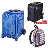 Zuca Midnight Insert Bag in Blue Frame (Full-Sized Sport) with Mini Smile Bag for Kids and Explorer Backpack
