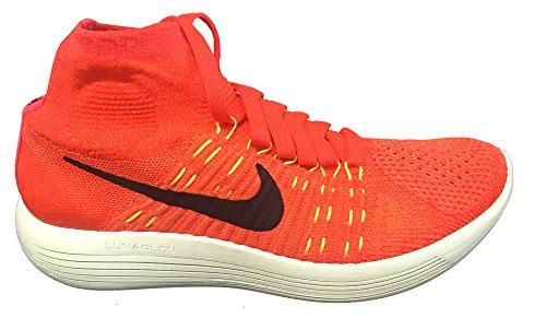 Nike Vrouwen Lunarepic Flyknit Loopschoenen Brght Crmsn / Blck-hypr Orng-vlt