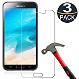 [3 Pack] Samsung Galaxy S5 Screen Protector Tempered Glass,[9H Hardness][Ultra Clear][Anti Scratch][Bubble Free]