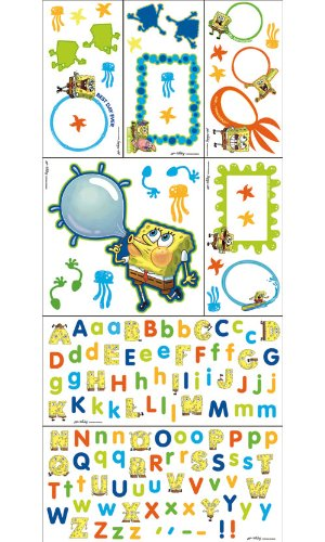 Blue Mountain Wallcoverings 31720520 Nickelodeon SpongeBob Self-Stick Photo Frame Decor Kit