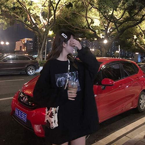 ZZAI Maglione Allentato di Media Lunghezza - Maglione A Maniche Lunghe Pullover Donna