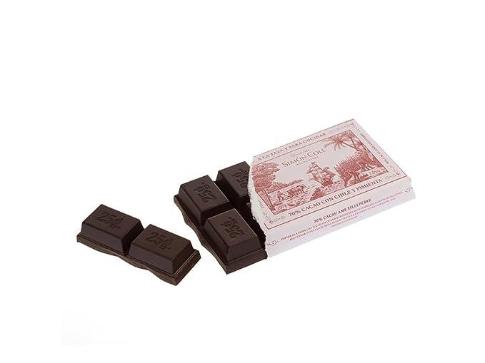 Simón Coll - Chocolate a la taza aromatizado con chili y pimienta - 70 % cacao