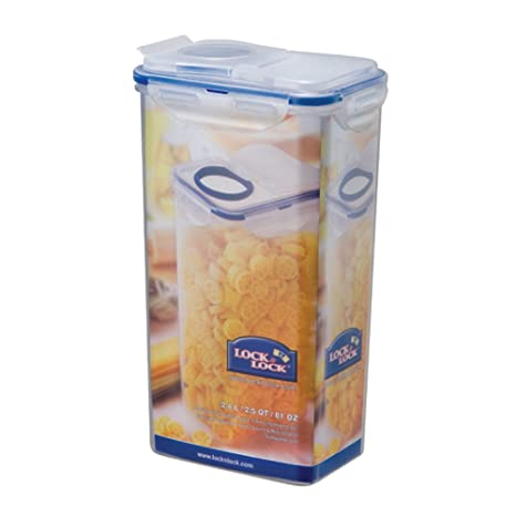 Delicieux LOCK U0026 LOCK Airtight Rectangular Tall Food Storage Container With Flip Lid  81.15 Oz /