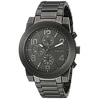 Bulova Men's Quartz Stainless Steel Casual Watch, Color:Grey (Model: 45A124)