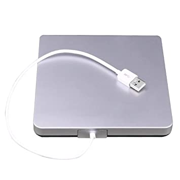 USB CD/DVD-RW Grabador de Grabador Disco Duro Externo para Ordenador portátil, PC, Mac, MacBook Pro USB 2.0 Interfaz de grabación Inteligente: Amazon.es: ...