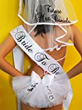 Bachelorette Veil, Sash and Booty Cover PERSONALIZED 3 piece set for only $75. this is a $90.00 VALUE (if purchased separately). Designed by CYA Bikini Veils for SashANation