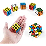 Super Z Outlet Mini Color 3x3 Cube Puzzle Game Toy for Party Favors (6 Pack)
