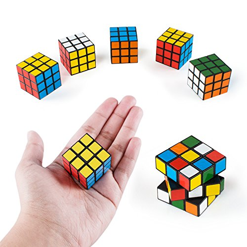 Mini Color 3x3 Cube Puzzle Game Toy for Party Favors (6 Pack)