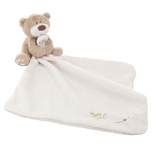 Manta de seguridad para bebé, Woopower suave toalla de toalla de atención con animales de peluche para bebé, diseño de oso rosa rosa: Amazon.es: Bebé