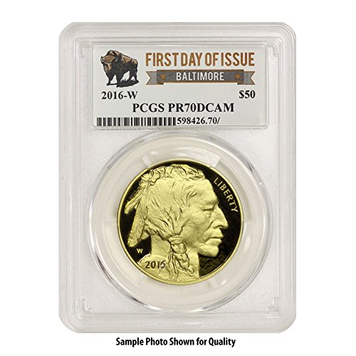 2016 W Gold Buffalo $50 PR70DCAM PCGS First Day of Issue