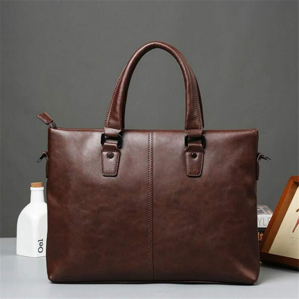 Lianai11 Laptoptasche Männer Tote Zipper Aktentasche Schulter Messenger Bag Große Kapazität Mode Lässig Business Laptop Tasche