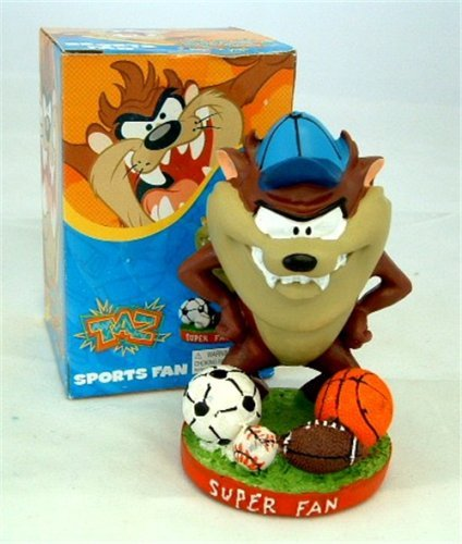 Looney Tunes Taz Sports Bobble Head Bobblehead 4 inch Bobble Figurine Soccer Football Baseball Basketball