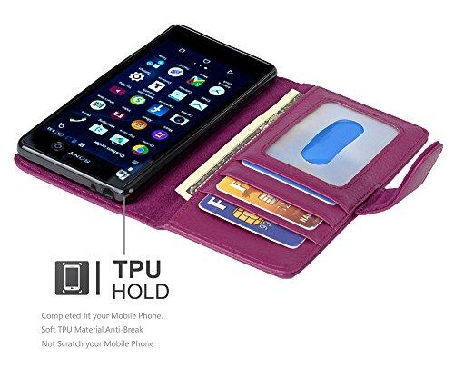 Cadorabo - Funda >                                      Sony Xperia M5                                      < Book Style de Cuero Sintético en Diseño Libro