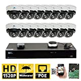 GW Security 16CH H.265 8MP 4K NVR 4MP (2592 x 1520) Plug & Play POE IP Camera System, 16pcs 4MP 1520p 2.8-12mm Varifocal Zoom Weatherproof Dome Security Cameras, Pre-Installed 4TB HDD and More Review