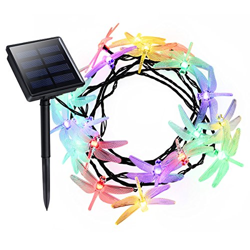 Litom Outdoor Solar String Lights 20 LED with Dragonfly Shape (Dragonfly Shape)